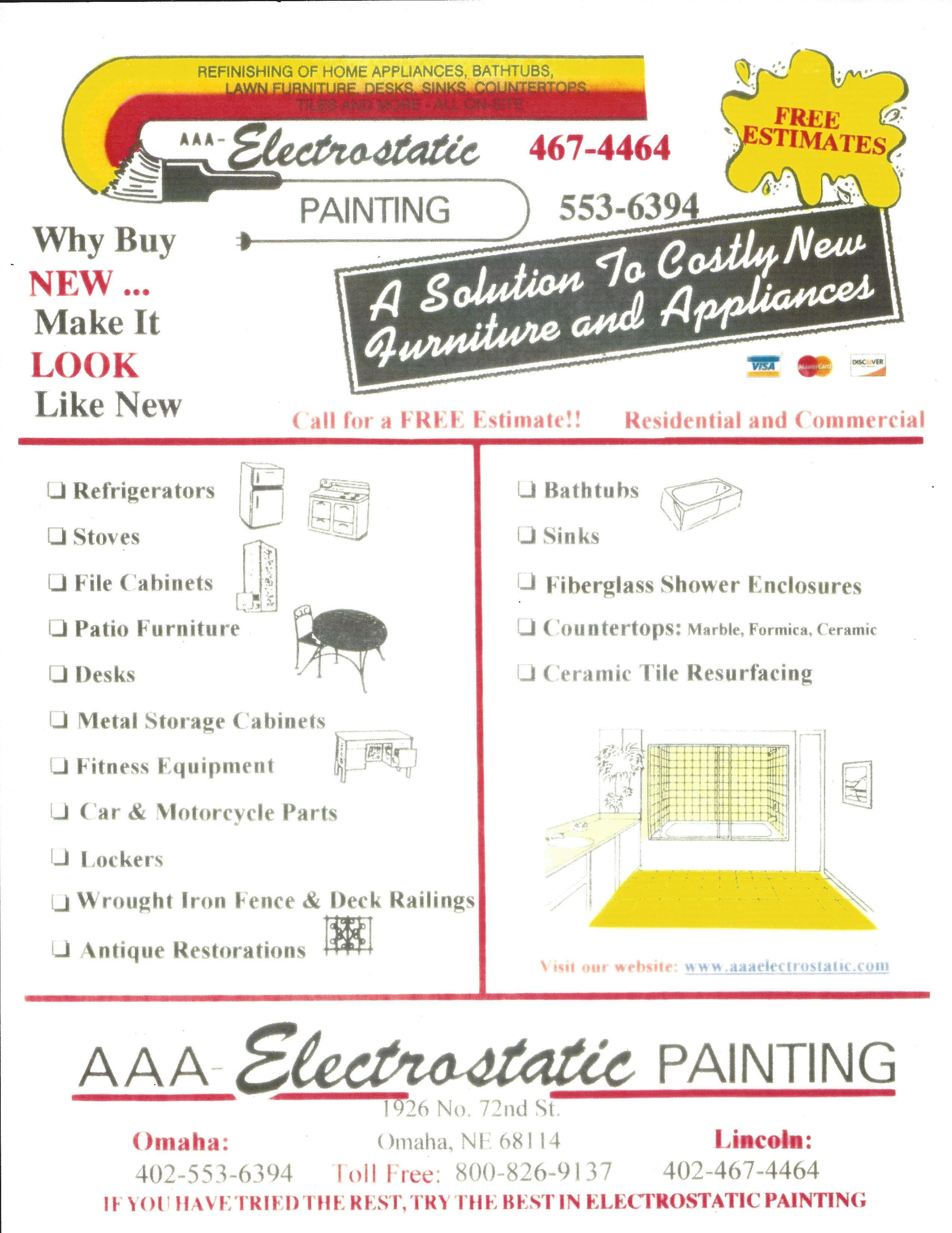AAA Electrostatic Painting Flyers Item #2